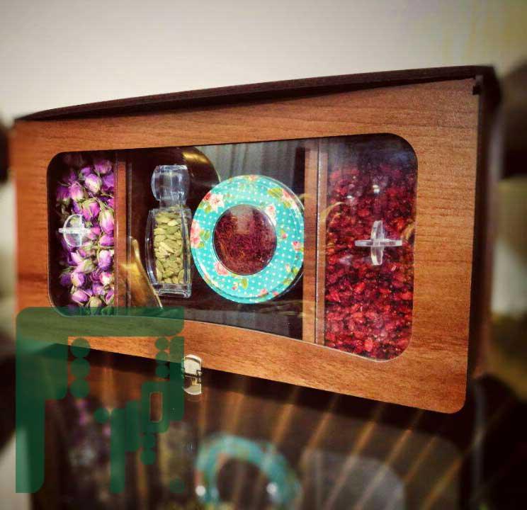 خرید جعبه چوبی کوچک زعفران